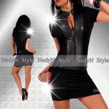 NedyN fekete cipzáros női ruha