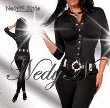 NedyN  patentos Kata női ing fekete