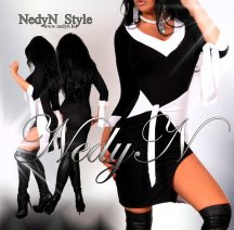 NedyN megkötős elegáns POLY női ruha