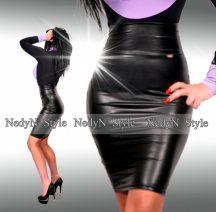 NedyN  műbőr magasderekú - hosszított női szoknya * felső nélkül