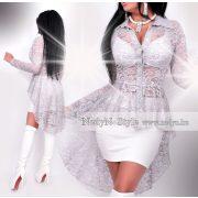 NedyN ezüst szürke hátul hosszított női ing