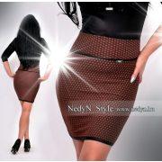NedyN barna fekete   mintás női szoknya