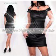 NedyN fekete fényes női ruha