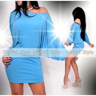 NedyN kék színű kövezett női bő ruha