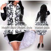 NedyN fekete fehér matyó mintás hosszított ing