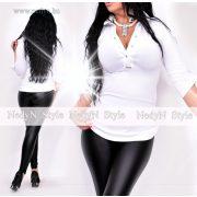 NedyN fehér patentos női ing