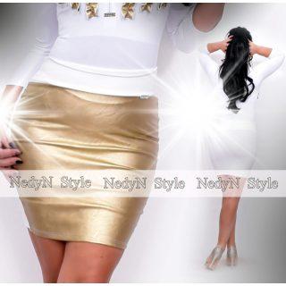 NedyN fehér -arany bőrhatású szoknya