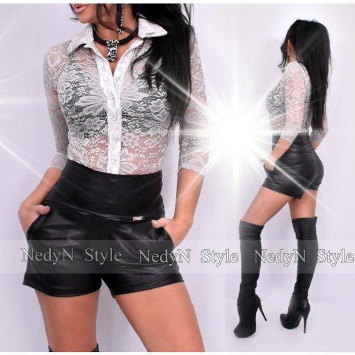 NedyN ezüst szürke csipkés Kata női ing