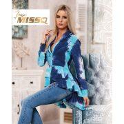 MISSQ kék batikolt Lola blúz