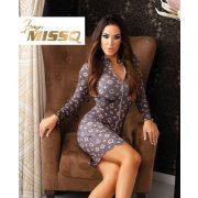 MISSQ Verity ruha barna alapon világosbarna mintás