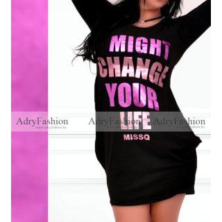 MISSQ fekete zsebes női ruha S es