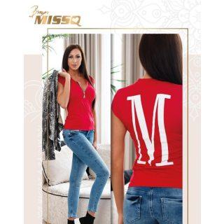 MISSQ Ringló felső piros