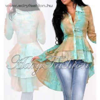 MISSQ mentazöld barna batikolt Lola blúz