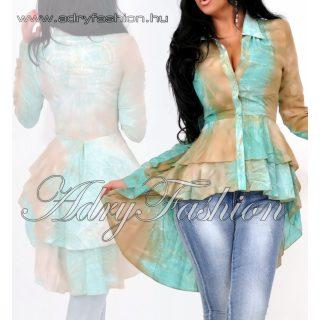 MISSQ mentazöld barna batikolt Lola blúz S es