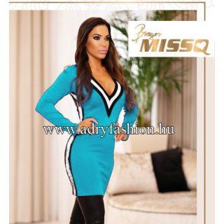 MISSQ K.Gréte kötött női ruha világoskék