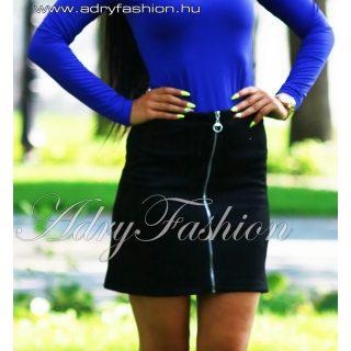 Fekete cipzáros női szoknya