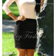 Fekete szarvasbőr hatású női szoknya