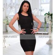 Fekete színű alkalmi női ruha elöl csavart  S