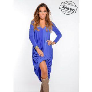 MISSQ Cián ruha elöl csavart kék
