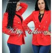 Piros színű csinos női blézer derekán megköthető S/M