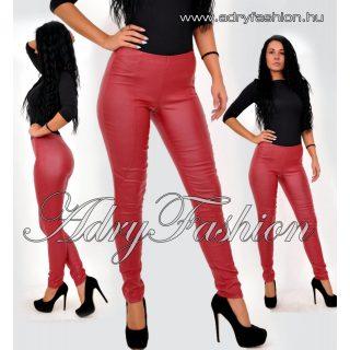 Warp Zone bordó bőrhatású nadrág