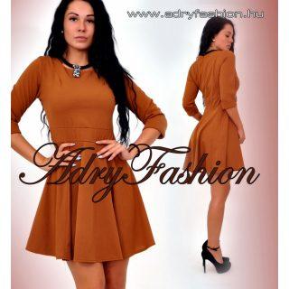 Elegáns Csau barna csinos női ruha