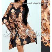 Fekete alapon mintás Lepel ruha