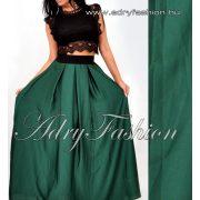 Zöld színű gumis derekú maxi szoknya