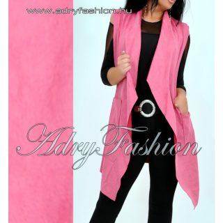 Pink mellény zseb díszes