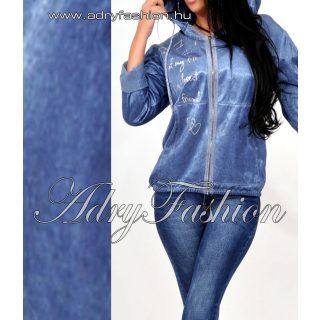 Farmer kék vékony dzseki kapucnis