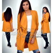 Mustár sárga csinos derekánál megkötős női kardigán