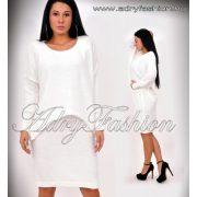 Tört fehér egybe részes kötött női ruha