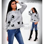 Szürke mickey pulóver