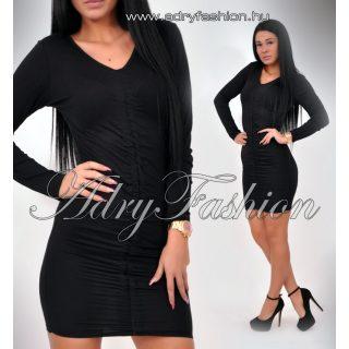 Nikki fekete elöl húzott női ruha