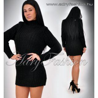 Milla fekete kötött ruha / tunika