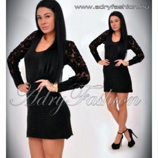 Dorina fekete kötött ruha