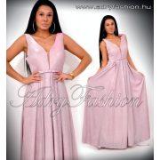 Alkalmi rózsaszín MAXI csillámos estélyi ruha L/XL - kis méret