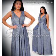 Alkalmi kék MAXI csillámos estélyi ruha L/XL - kis méret