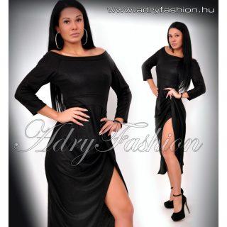 Alkalmi Fekete csillámos Maxi ruha