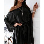 Fekete anyagában csillogós alkalmi Lepel ruha