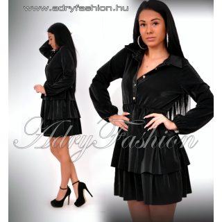 Fekete fodros ing ruha