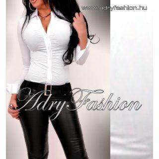 Elöl húzott ing body fehér színű