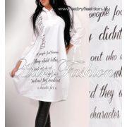 Fehér női ing hosszított