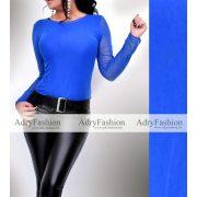 Kék dupla tüll női felső