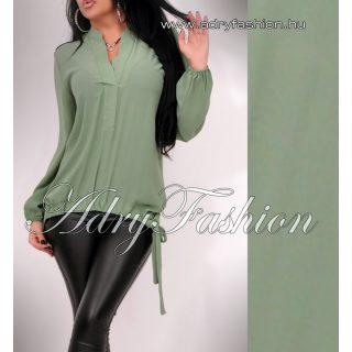 Zöld elöl húzott női ing