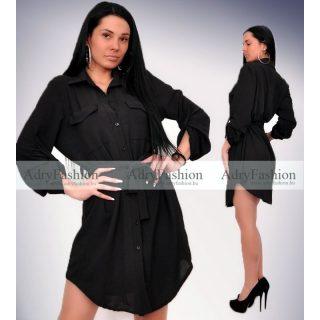 Fekete Megköthető  lenge ing ruha