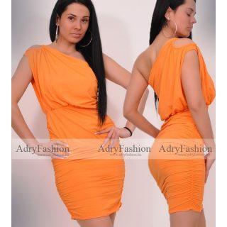 Narancs poliamid félvállas Mya ruha
