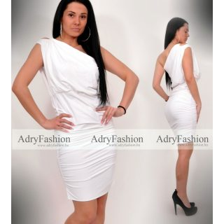 Fehér színű poliamid félvállas Mya ruha
