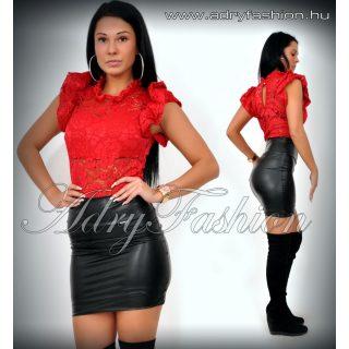 Piros SZÍNŰ elegáns alkalmi csipkés  női body