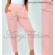 Púder rózsaszín zsebes nadrág - lenge fazon